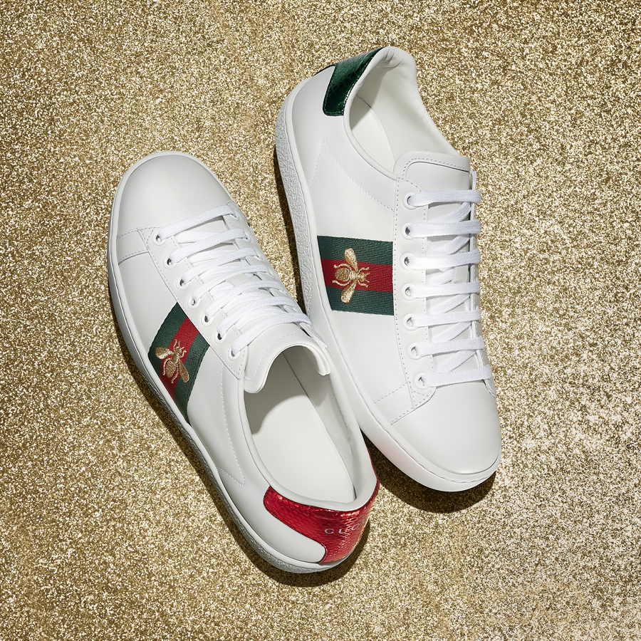 lauren nakao winn, photography, nyc, product photography, still, still life, gucci, gucci ace sneakers, gucci stripe, gucci bee